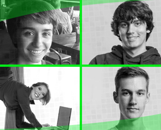 4 headshots of student hackers