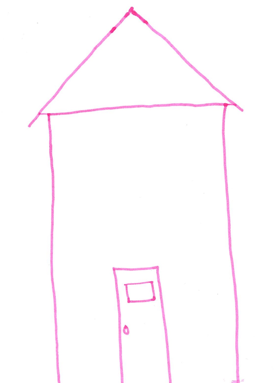 I have drawn a house with a door; when the door is closed there is privacy. However, others can be let in if they ring the door bell. Age 24.